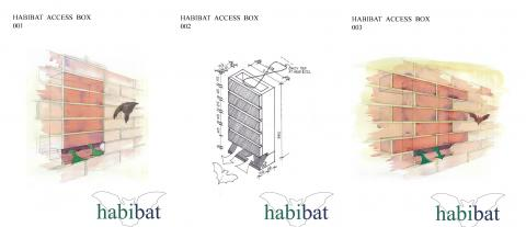 Habibat boxes can be faced with your chosen material